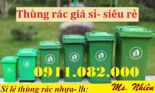Bán thùng rác 120L 240L giá sỉ lẻ- Thùng rác nhựa hdpe nắp kín 2 bánh