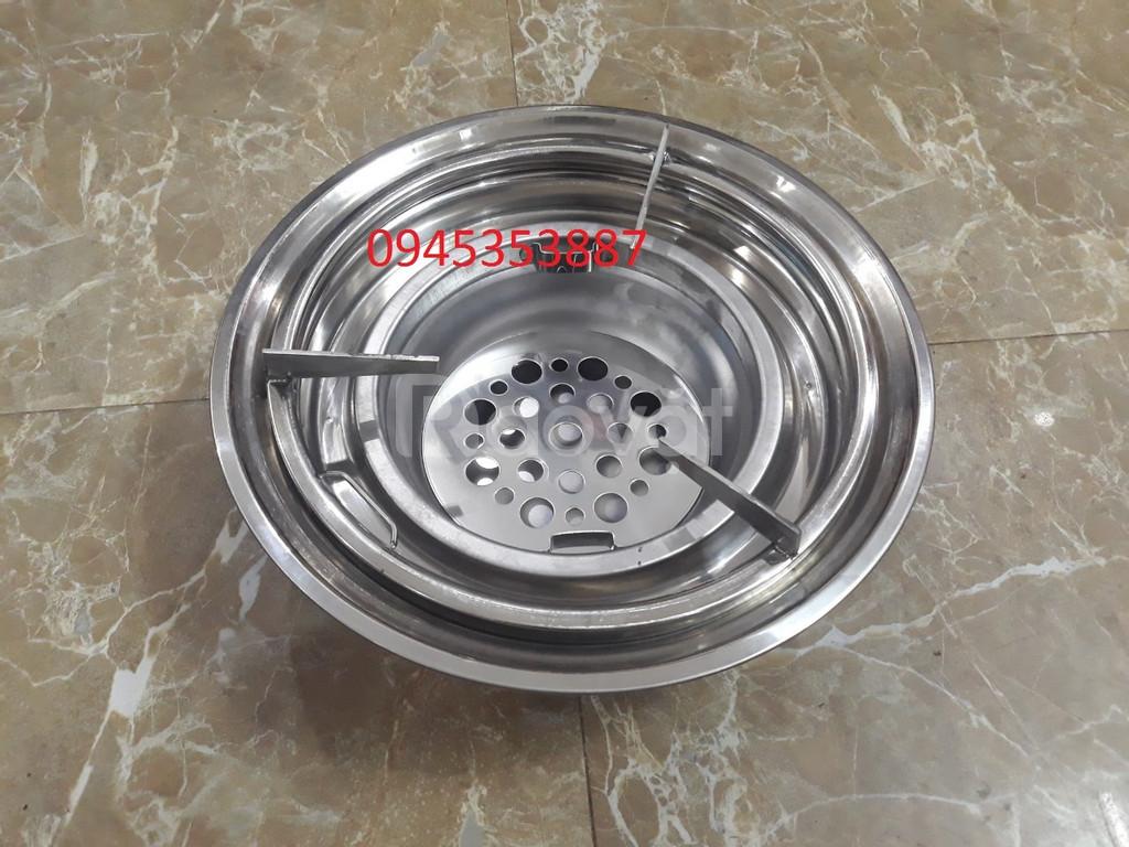 Bếp nướng lẩu đặt âm bàn kết hợp kiềng lẩu nướng than hoa