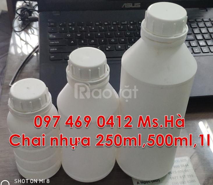 Bán sỉ chai nhựa đựng hóa chất,chai nhựa dung tích 1 lít,500ml,250ml