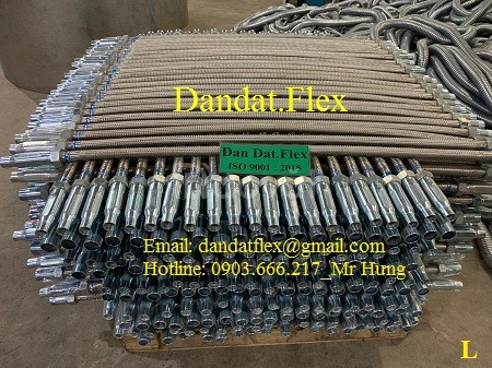 Ống nối mềm inox cho đầu phun sprinkler - ống mềm PCCC - ống mềm inox