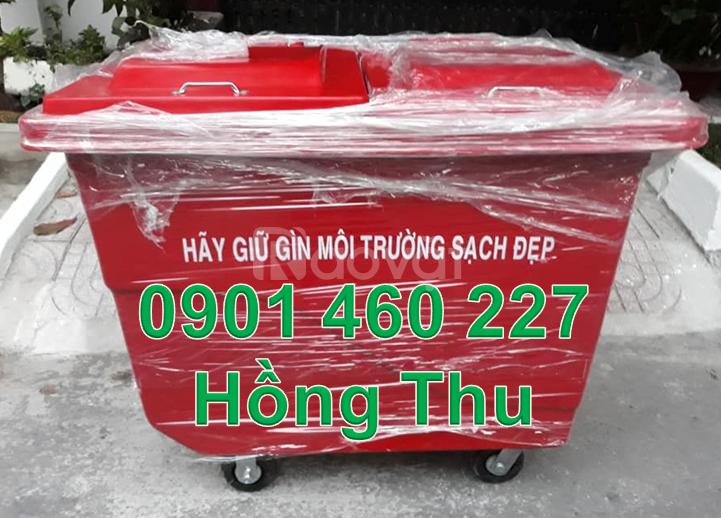 Thùng rác 1000 lít nhựa composite giá rẻ