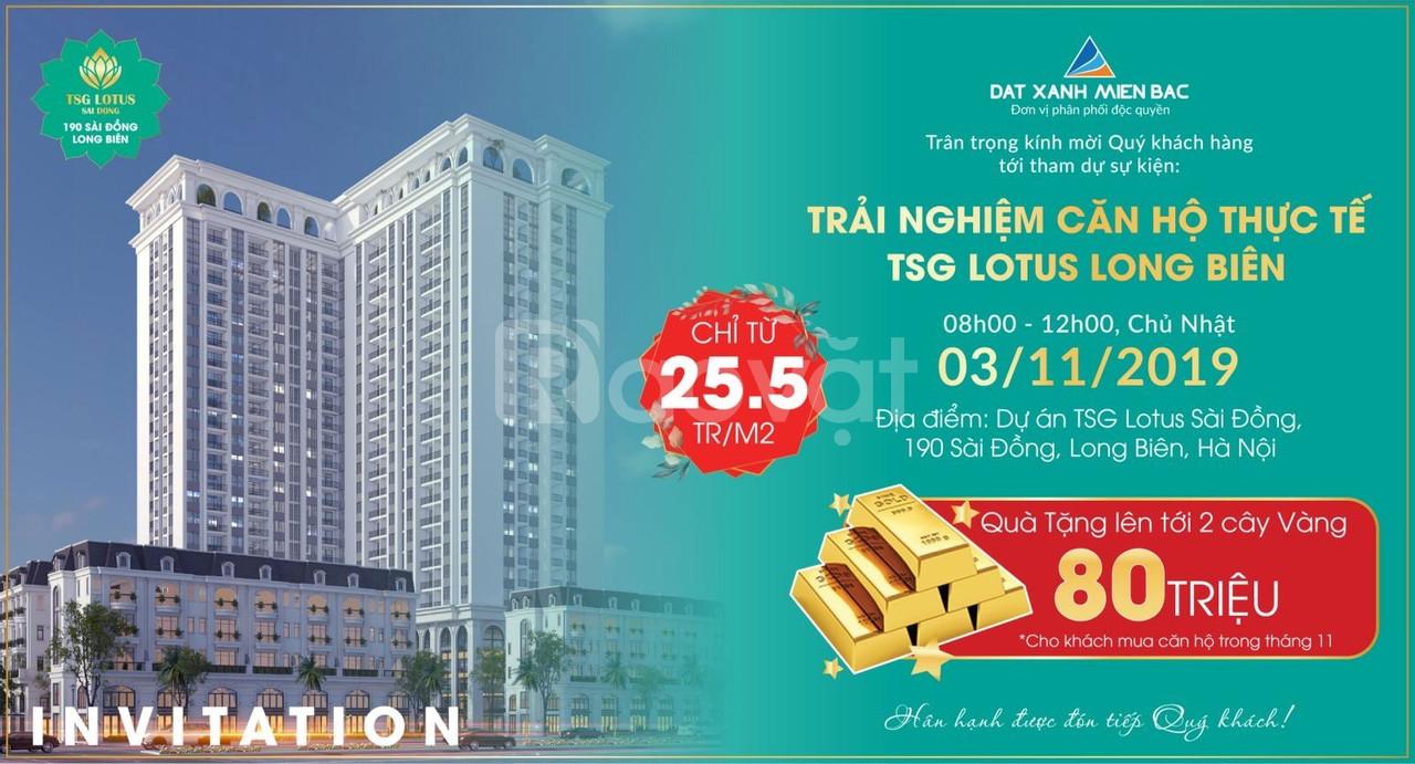 Mua nhà TSG Nhận 02 cây vàng + CK 3,5 % nhận nhà tháng 3/2020