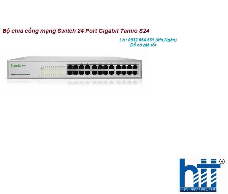 Bộ chia cổng mạng Switch 24 Port Gigabit Tamio S24