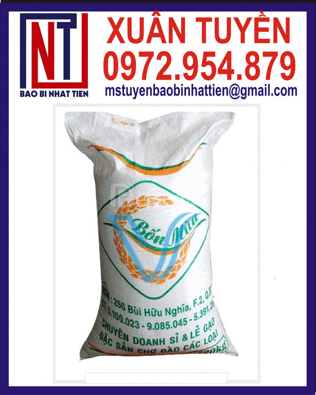 Bao PP dệt đựng gạo 50kg in flexo (ảnh 6)