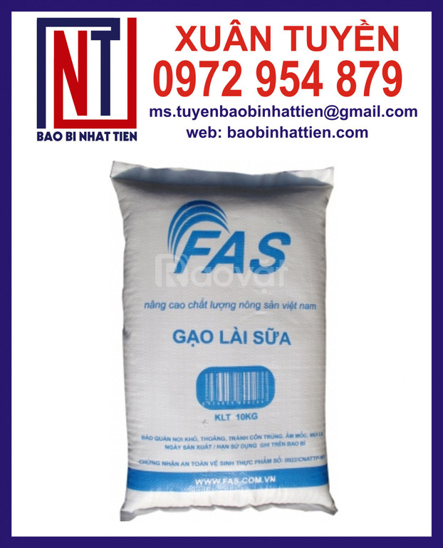 Bao PP dệt đựng gạo 50kg in flexo (ảnh 4)