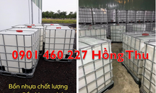 Gía thùng nhựa ibc 1000 lít, thùng đựng tinh chất dầu dừa 1000l mới