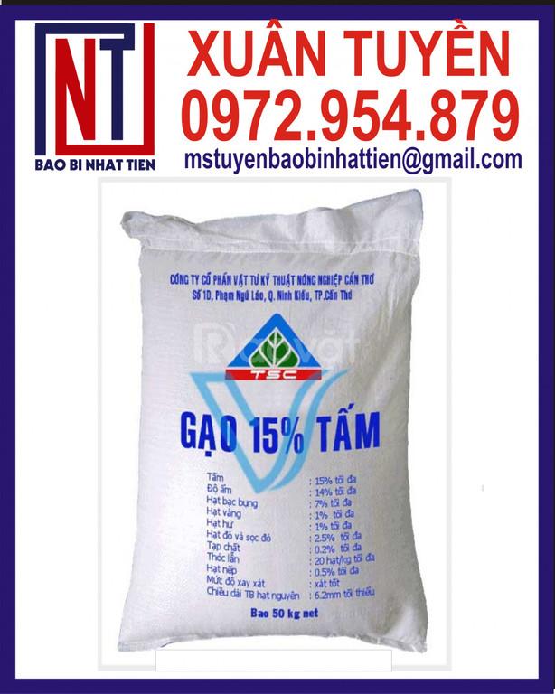 Bao PP dệt đựng gạo 50kg in flexo (ảnh 7)