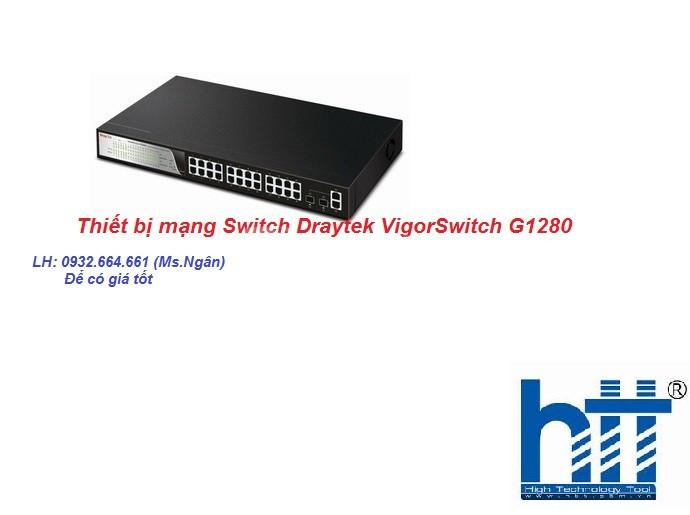 Thiết bị mạng Switch Draytek VigorSwitch G1280