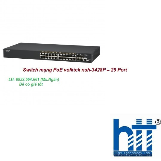 Switch mạng PoE volktek nsh-3428P – 29 Port