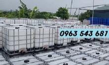 Tank nhựa IBC 1000L, thùng nhựa IBC 1000L