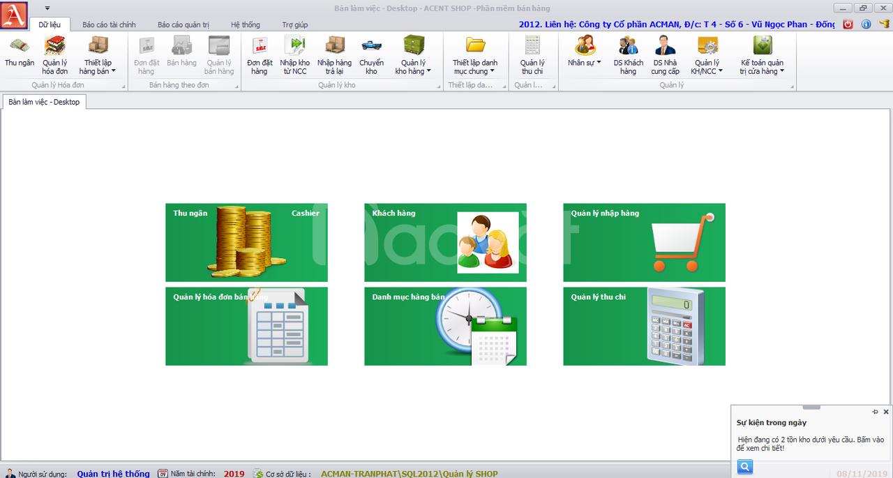 Phần mềm bán hàng ACMAN SHOP – Giải pháp quản lý bán hàng hiệu quả