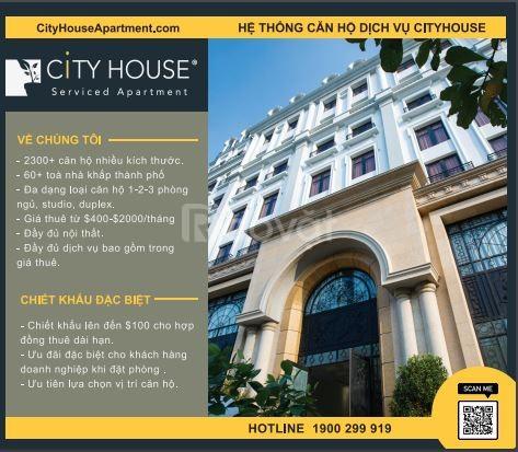 Hệ thống căn hộ dịch vụ CiTyHouse, chiết khấu hấp dẫn