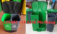 Thùng rác 2 ngăn phân loại rác