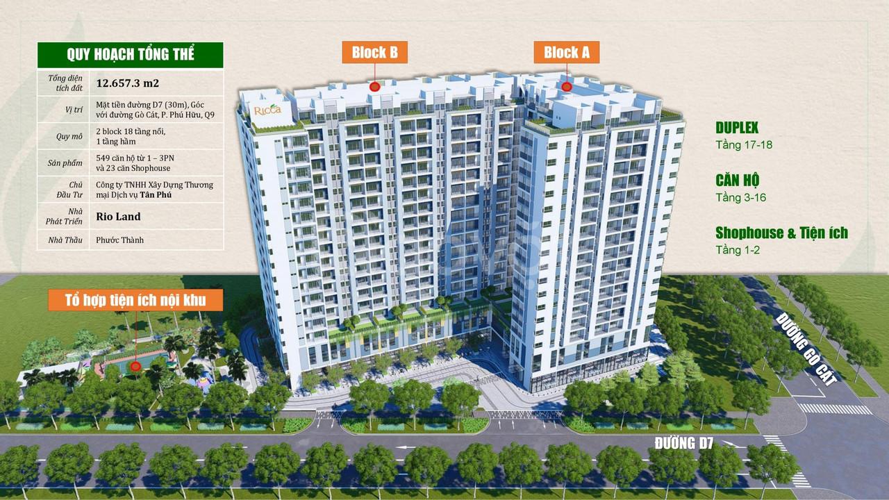 The Ricca Gò Cát q9 căn hộ giá tốt chỉ từ 29tr/m2, pháp lí rõ ràng