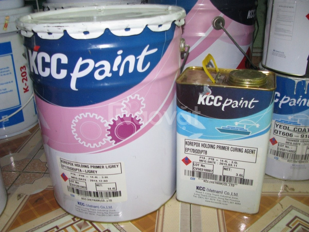 Bán sơn epoxy tự san phẳng KCC Unipoxy Linning giá tốt