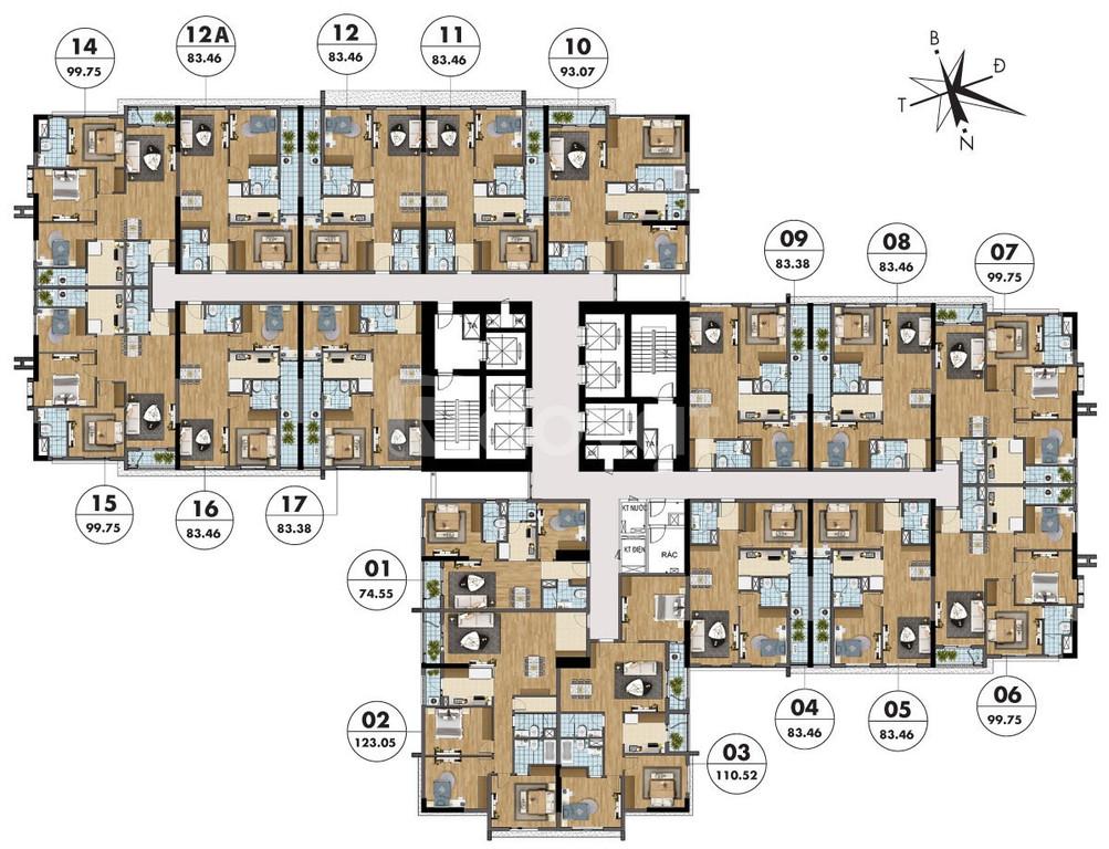 Cần bán ngay căn hộ 123 m2, view đẹp nhất dự án - hỗ trợ 70% giá trị