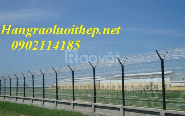 Hàng rào mạ kẽm, lưới thép mạ kẽm, lưới hàn sơn tĩnh điện