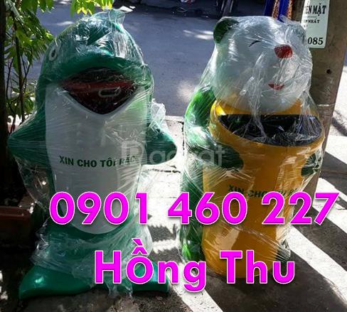 Thùng rác con động vật, thùng rác con thú rừng, thùng rác chuột túi