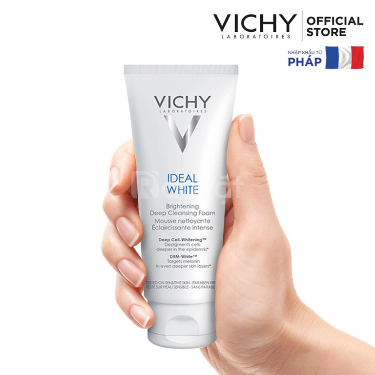 Sữa rửa mặt tạo bọt dưỡng trắng da Vichy Ideal White Brightening Deep