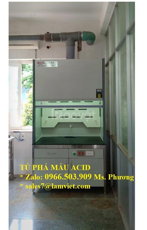 Tủ hút khí độc chịu acid (tủ phá mẫu acid) model LV-FH12A
