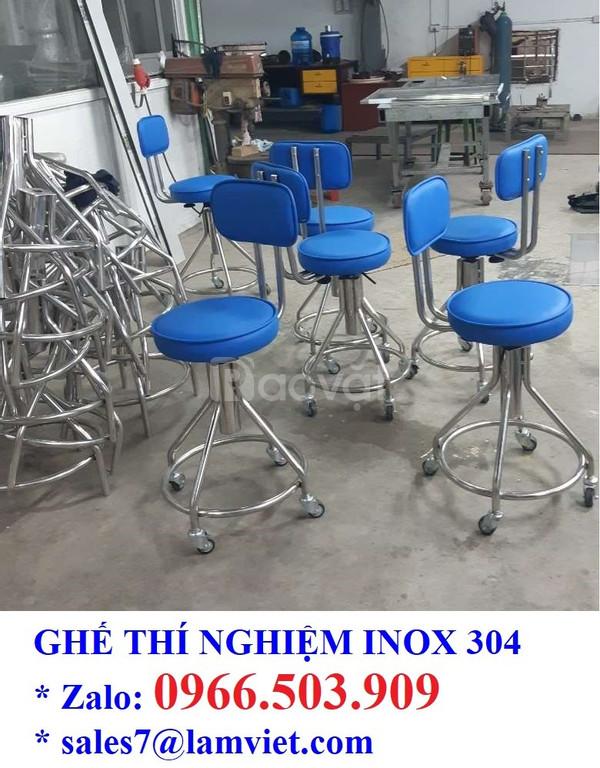 Ghế phòng thí nghiệm chất liệu inox 304 - hàng có sẵn (ảnh 5)