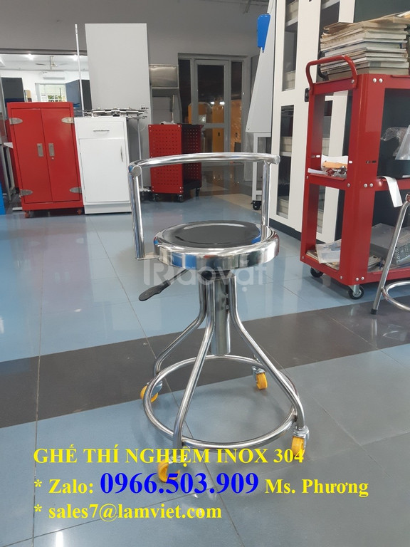 Ghế phòng thí nghiệm chất liệu inox 304 - hàng có sẵn (ảnh 7)