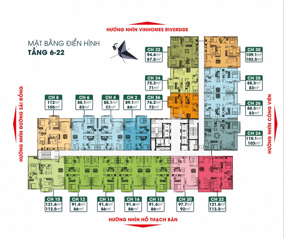 Bảng giá chính thức từ chủ đầu tư dự án TSG Lotus Sài Đồng