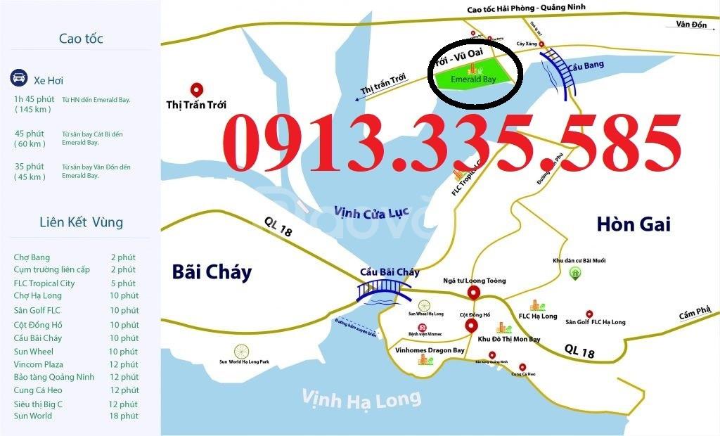 Bán đất biệt thự mặt biển View cầu Bãi Cháy - Dự án Emrald Bay