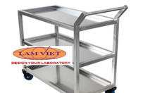 Xe đẩy inox 2,3 tầng, xe đẩy y tế