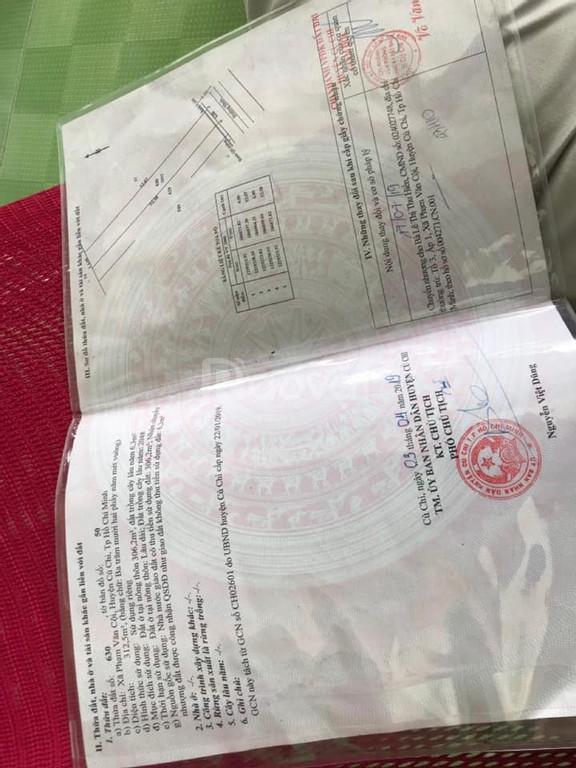 Bán lô đất 312m2 giá 1.95tỷ mặt tiền Phạm Văn Cội, Củ Chi