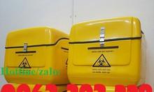 Thùng chở rác thải y tế nguy hại sau xe máy,thùng vận chuyển chất thải