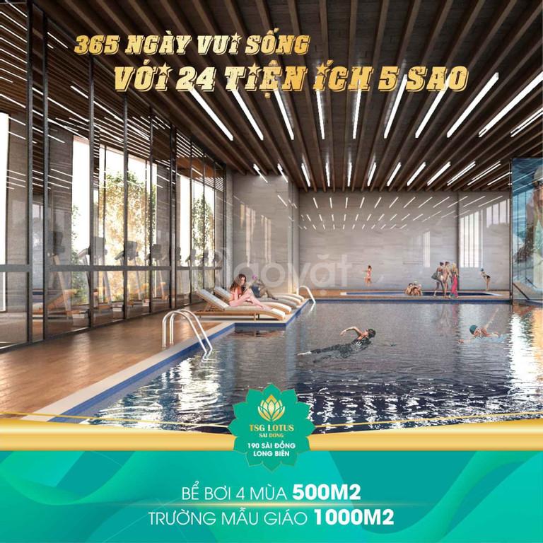 TSG Lotus Sài Đồng nhận nhà tháng 3/2020.