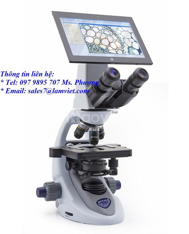 Kính hiển vi sinh học 2 mắt hãng Optika Italya hàng có sẵn giá rẻ