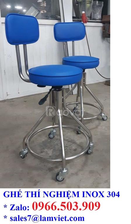 Ghế phòng thí nghiệm chất liệu inox 304 - hàng có sẵn (ảnh 4)