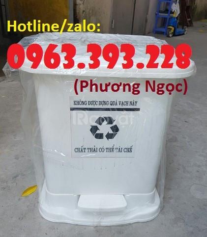 Thùng rác y tế đạp chân, thùng đựng rác y tế, thùng đựng rác thải bệnh