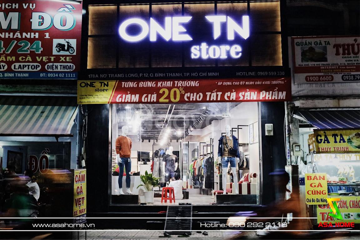Thi công shop Thời trang nam One TN – Thiết kế thi công shop trọn gói