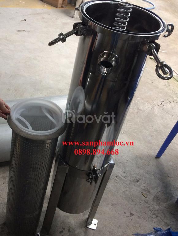 Bình túi size 2 inox 316 lọc nước mắm lưu lượng lớn cho các nhà máy