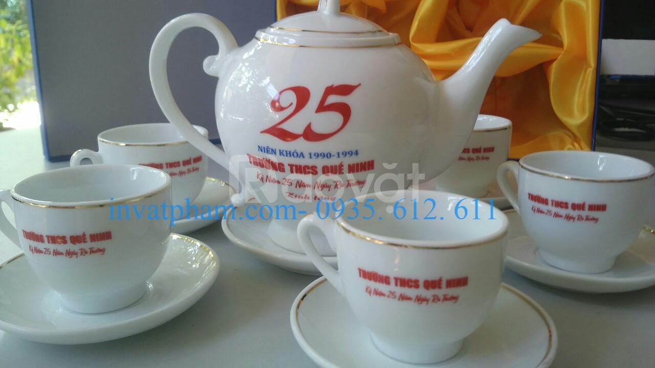 In bộ ấm chén tách trà tại Gia Lai, in gốm sứ tại Gia Lai