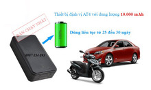 Định vị xe máy ô tô, thiết bị nghe lén dùng pin
