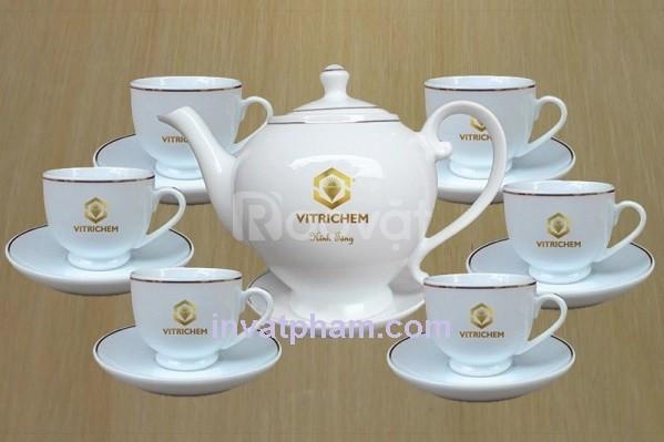 Xưởng in gốm sứ thủy tinh Đà Nẵng, bộ ấm trà quà tặng
