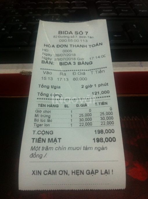 Bán giấy in hóa đơn chính hãng tại Bắc Giang