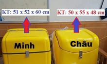 Thùng vận chuyển chất thải nguy hại sau xe máy thùng thu gom chất thải