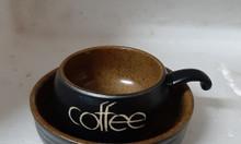 Bộ cafe trứng màu nâu