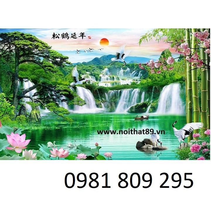 Tranh 3d phong cảnh thiên nhiên núi đồi