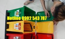 Thùng rác đạp chân 3 ngăn, thùng rác 3 ngăn phân loại rác tại nguồn