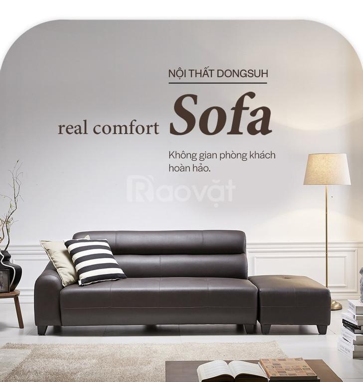 Sf1353 - ghế sofa da 3 chỗ kèm đôn- ưu đãi 30% khi mua online