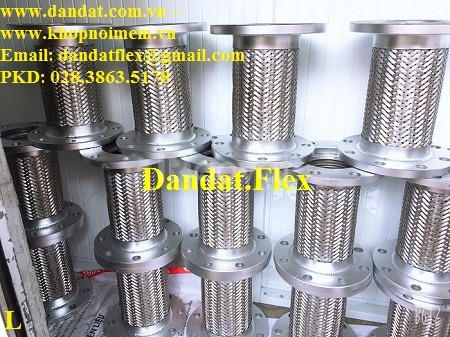 Khớp nối mềm chống rung inox Dân Đạt sản xuất