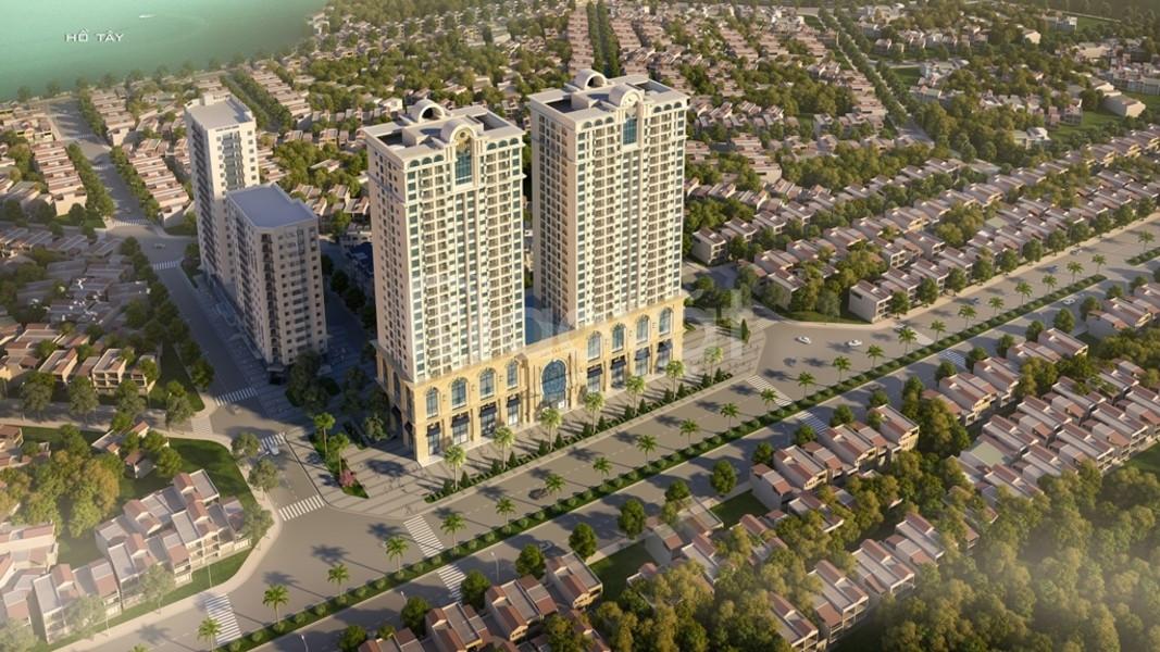 Tây Hồ Residence giá 4 tỷ/căn góc 3PN 86.2m2, bc Đông view Hồ Tây
