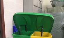 Thùng rác đạp chân 2 ngăn - thùng rác nhựa hdpe