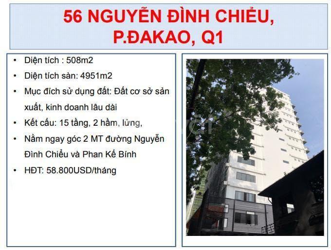 Chuyển nhượng building số 56 Nguyễn Đình Chiểu, P. đakao, Q1